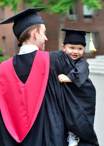 6 Colors Baby Graduation Cap and Gown/Robe by AleneCutlerCreations