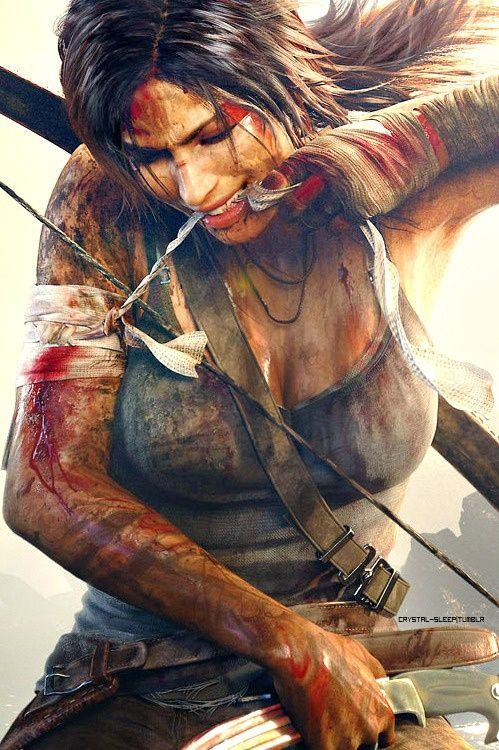 Lara Croft, Tomb Raider. Scars are just free tattoos.