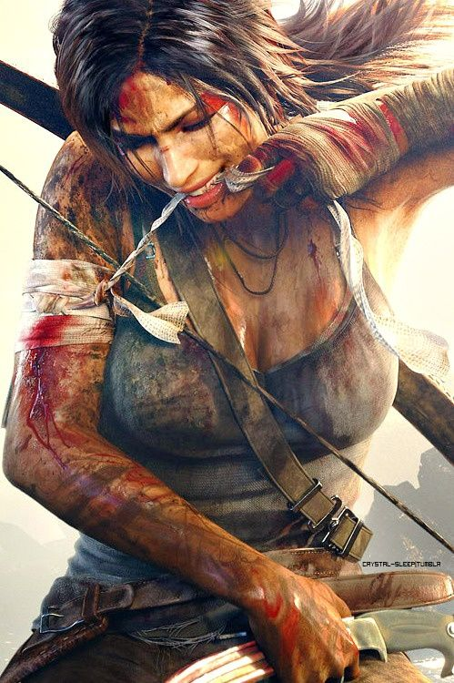 Lara Croft, Tomb Raider. Scars are just free tattoos.