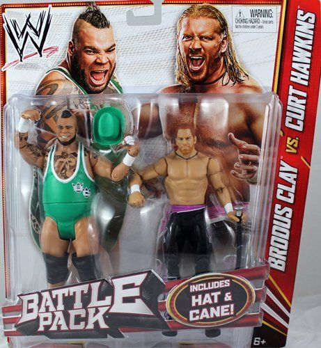 BRODUS CLAY & CURT HAWKINS - WWE BATTLE PACKS 20 WWE TOY WRESTLING ACTION FIGURE 2-PACKS by MATTEL. $33.99. Curt Hawkins. Includes Hat & Cane!. Brodys Clay. BRODUS CLAY & CURT HAWKINS - WWE BATTLE PACKS 20 WWE TOY WRESTLING ACTION FIGURE 2-PACKS