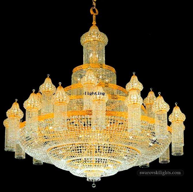Large Crystal Chandeliers_Zhongshan Sunwe Lighting Co.,Ltd. We Specialize  In Making Swarovski Crystal