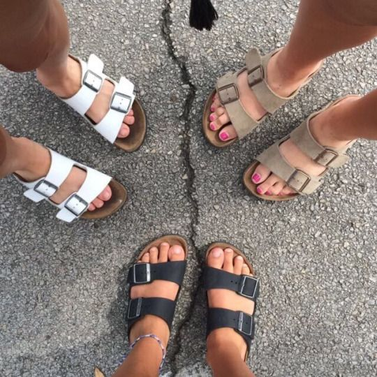 birkenstocks. want some so bad. can't decide, white or black?