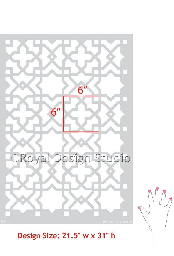 our moroccan wall stencils - photo #31