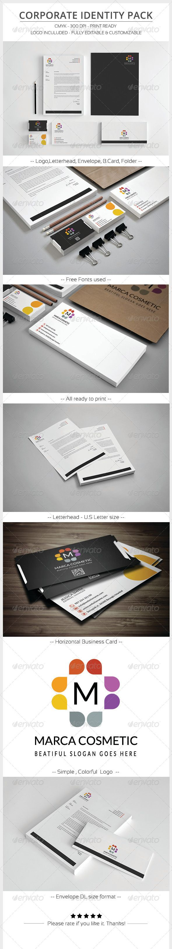 Corporate Identity Pack - #Stationery #Print #Templates Download here: https://graphicriver.net/item/corporate-identity-pack/6062342?ref=alena994