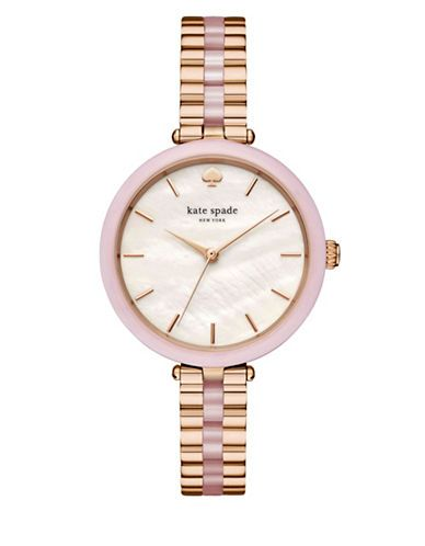 KATE SPADE Kate Spade New York Analog Stop And Smell The Roses Stainless Steel Holland Bracelet Watch. #katespade #
