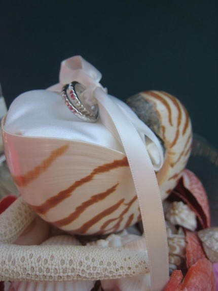 a hint of seashells for the wedding