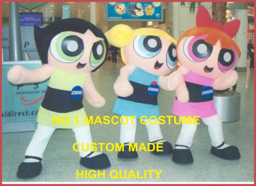 The Power Girls Mascot Costume Adult Cartoon Character Powerpuff Girls Theme Mascotte Anime Cosply Costumes Fancy Dress 2011 #Affiliate