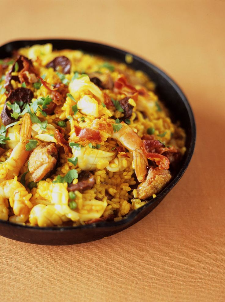 Best paella recipe we have ever tried. The chicken works very well & the whole recipe is very simple to make.
