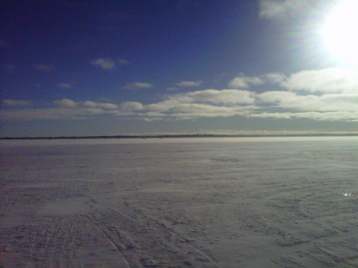 Lake Simcoe, ice fishing