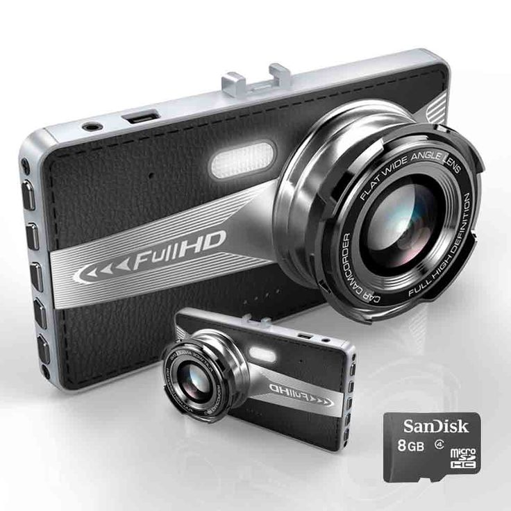 フルhd 1080 pデュアルカメラ車車両hdダッシュカーカメラdvrカムレコーダーで8ギガバイトmicro sdカード黒
