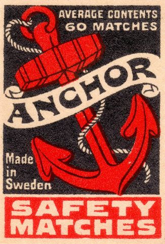 Vintage Anchor Safety Matches