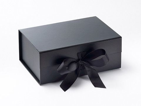Black A5-Deep Gift Boxes with grosgrain ribbon