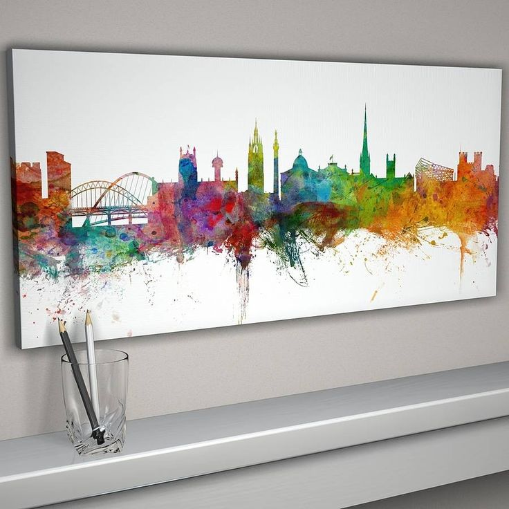 newcastle england city skyline by artpause | notonthehighstreet.com