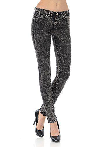 VIRGIN ONLY Women's Basic 5-Pocket Style Color Skinny Jeans (Black, Size 11)