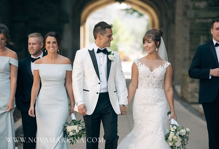 Bride and Groom with their Closest Friends || Wedding Day Group Photos Inspiration || NovaMarkina Photography || See more of this Liuna Station Wedding here: http://www.novamarkina.com/blog/liuna-station-wedding-photography-k-a