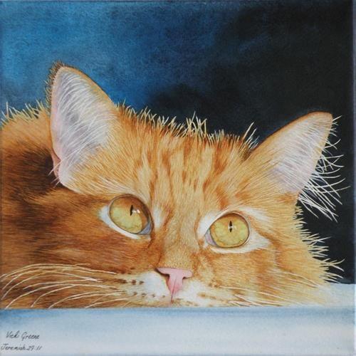 "Daily Paintworks - ""Focused"" - Original Fine Art for Sale - © Vicki Greene"