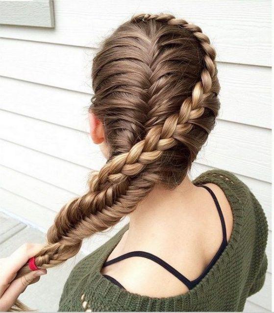 Beautiful long hair style with braids for young girls  - Hermoso peinado trenzado alrededor de la cabeza para jovenes