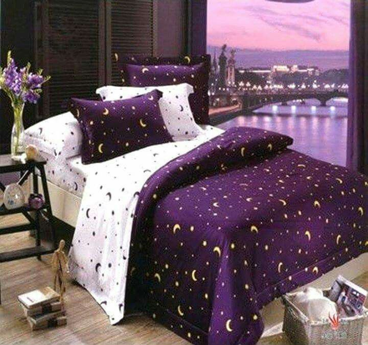 Pinner says: Love the purple and the moon & stars, 3 of my favorite things. - A PERFECT…