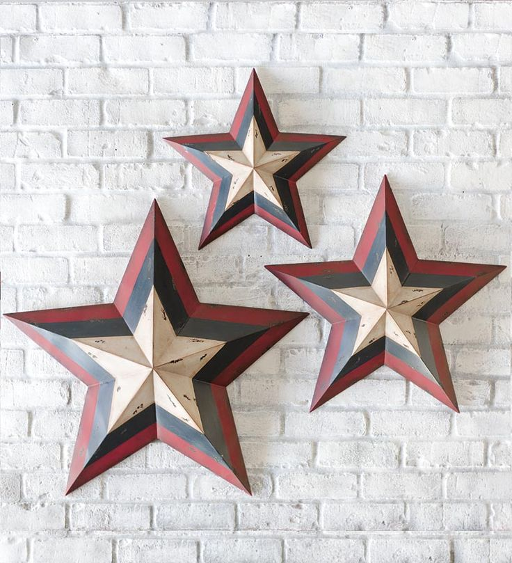 Metal Americana Decorative Stars
