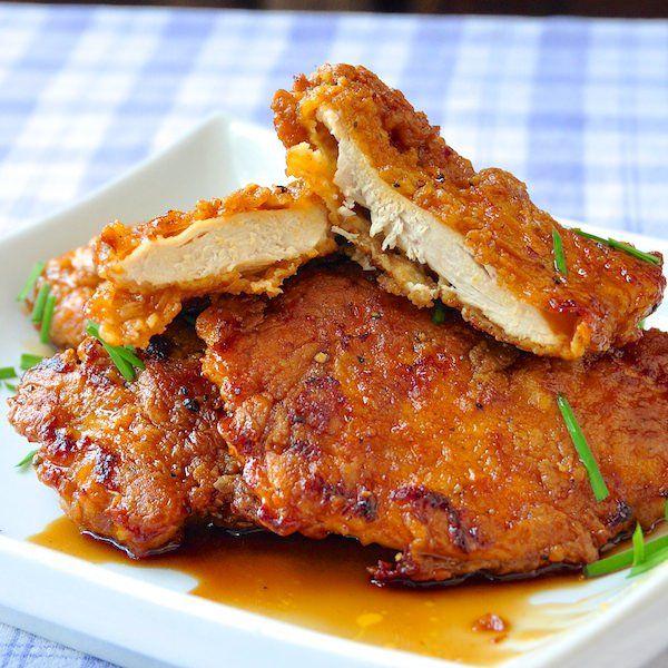 Baked Double Crunch Honey Garlic Chicken