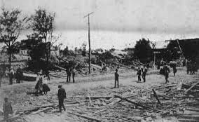 Albertville Alabama Tornado 1908 Damage Thought to be the Home of E.O. McCord
