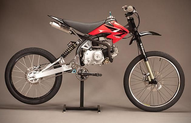 Motoped Motorized Mountain Bike. Stupidest thing I've ever seen