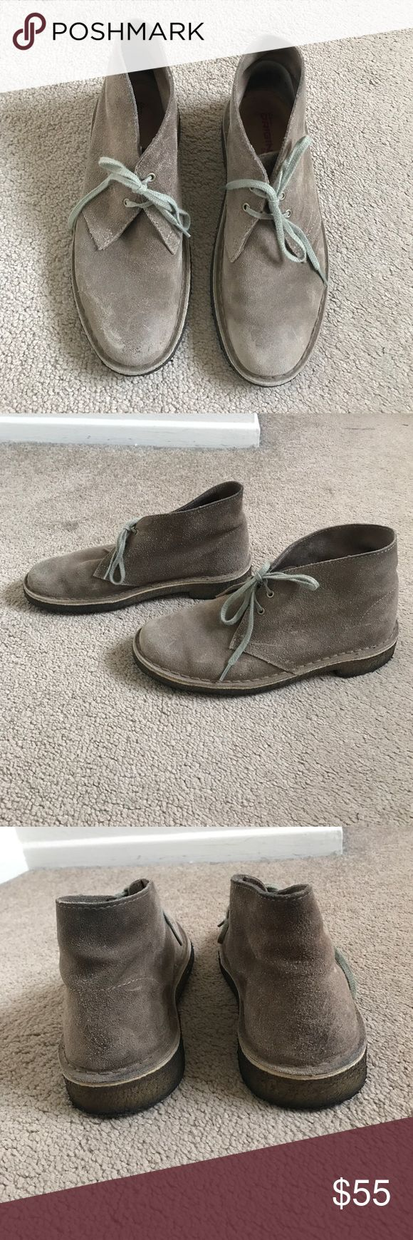 Taupe/ grey women's desert boot Leather/suede, good support. Clark's original. Clarks Shoes Ankle Boots & Booties