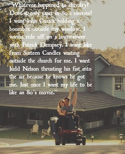 Quotes About Love From 80s Movies : easy a 80s movie quote - Google Search Quotes~! Pinterest