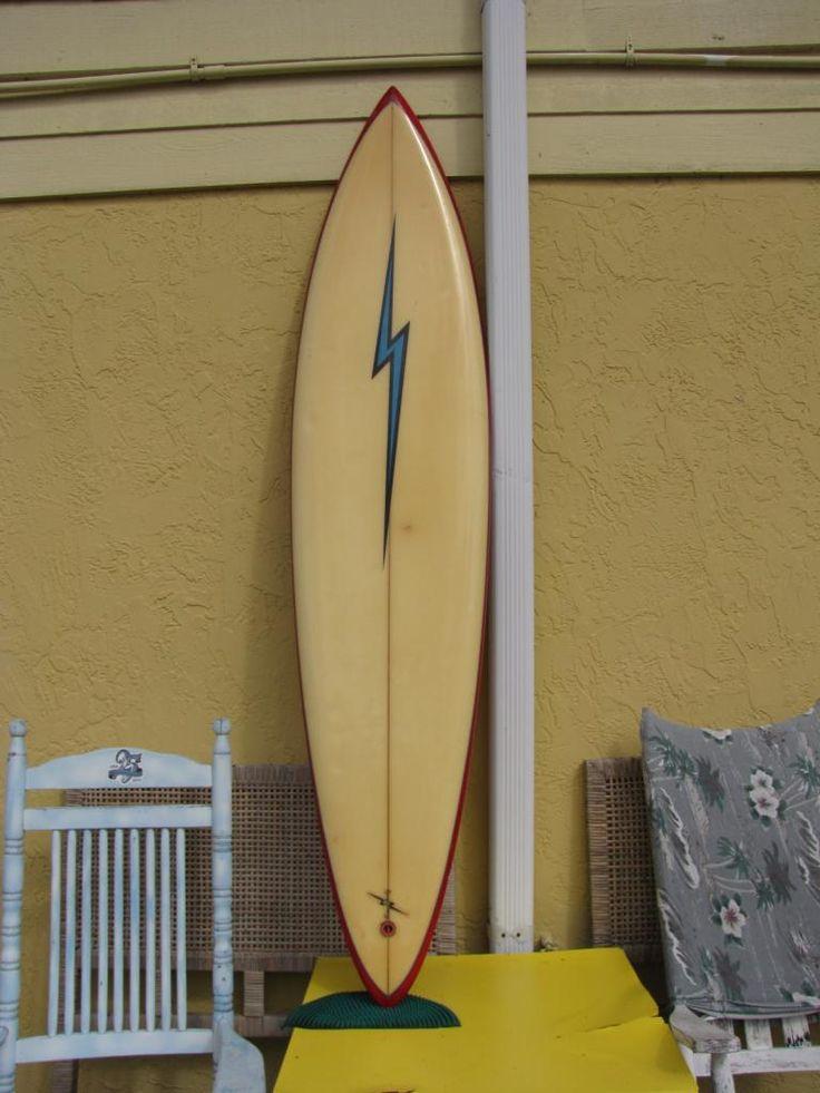 gerry lopez vintage surfboard lightning bolt surfboards semi gun used surfboards tom eberly