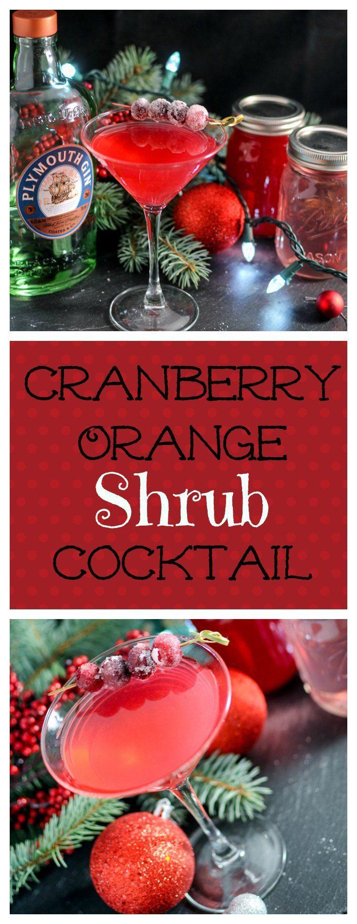 Cranberry Orange Shrub cocktail recipe