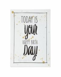 Bloeikaart   today is your happy birthday