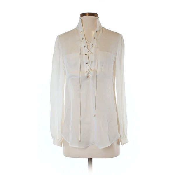 Haute Hippie Long Sleeve Silk Top ($34) ❤ liked on Polyvore featuring tops, beige, beige top, long sleeve silk top, haute hippie tops, beige long sleeve top and haute hippie