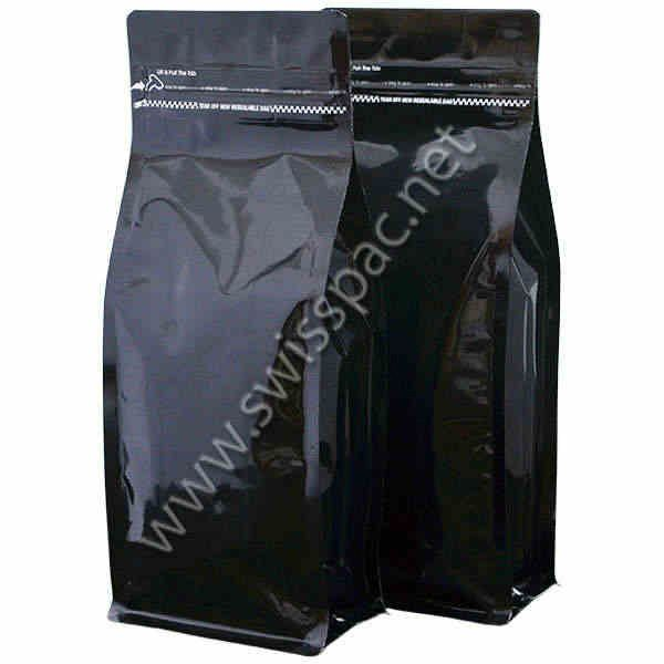 Matt Black with Tear Zipper  #StockFlatBottomPouches. To know more visit at http://www.swisspac.net/flat-bottom-pouches/