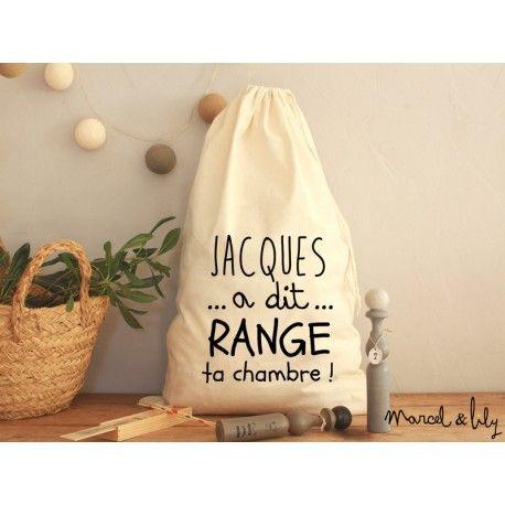 baluchon XL jacques a dit pour le rangement de chambre imprimé chez marcel et lily disponible en 3 coloris
