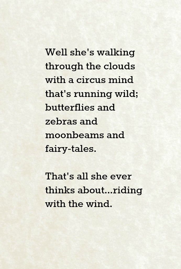 "Jimi Hendrix lyrics for Little Wing -  Maybe I ask to much, but isn't it ""circus mime"" not ""circus mind""?"