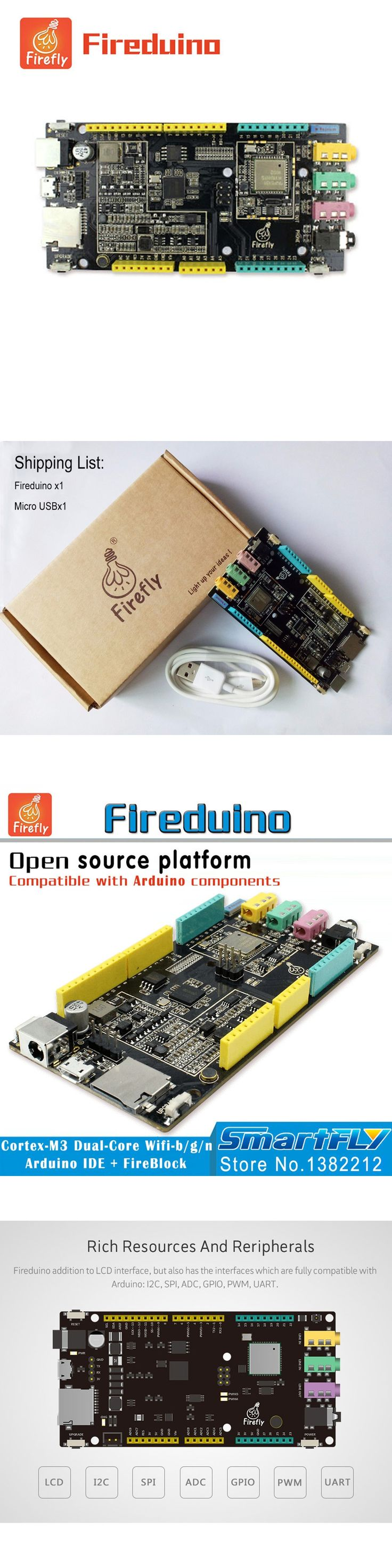 Fireduino PC Combine STEM education scratch Graphic program IOT development board pcduino wifi module ARM Cortex M3 demo