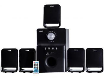 Home Theater TRC Speaker System c/ Subwoofer - 40W RMS 5.1 Canais Conexão USB/SD/RCA  de R$ 299,00 por R$ 179,00 em até 5x de R$ 35,80 sem juros no cartão de crédito