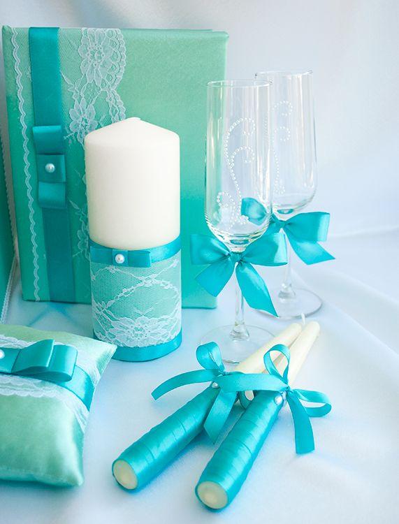 """Свечи для семейного очага """"Тиффани с жемчугом"""" #wedding #weddingdecor"""