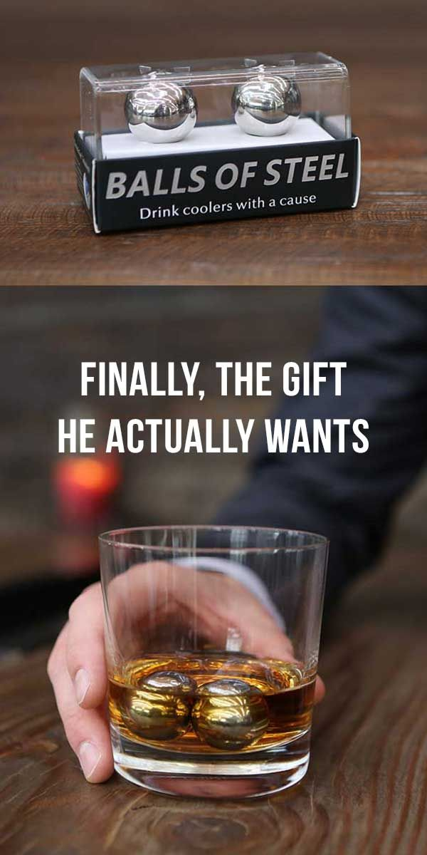 The PERFECT Valentines Day gift! Chill his whiskey, win his heart. Only $25 bucks! :)