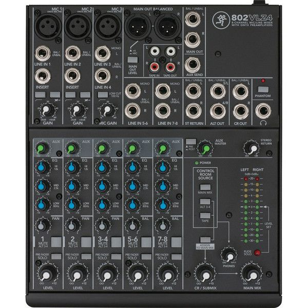 Mackie 802-VLZ4 8 Channel Analogue Compact Mixer at Gear4Music.com