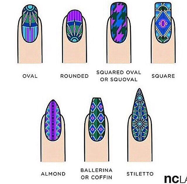 Nail Shapes via Laque Nail Bar
