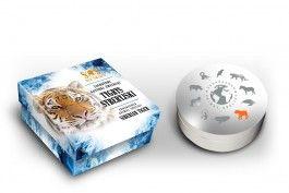 Tygrys syberyjski, 1 dolar, SOS dla świata - Zagrożone gatunki zwierząt (Srebrna Moneta)