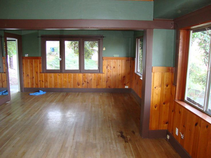 Knotty Pine In A Craftsman Home Floor Fireplace Color Plank House Remodeling