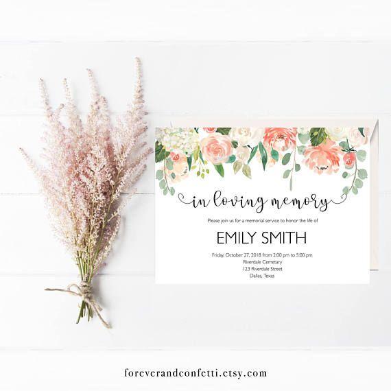 Πάνω από 25 κορυφαίες ιδέες για Funeral invitation στο Pinterest - memorial service invitation sample