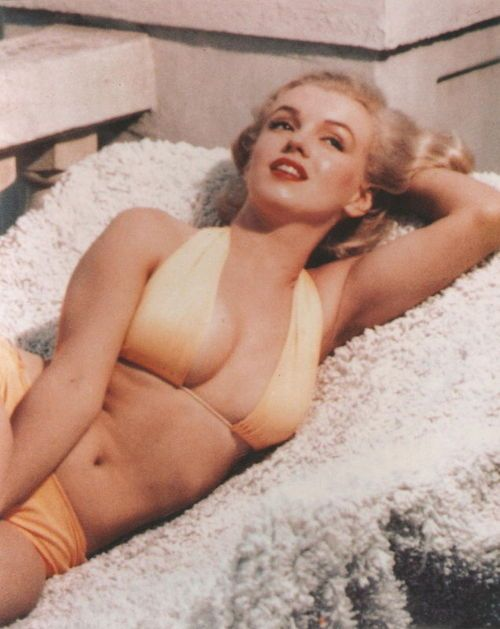 Marilyn Monroe - Look at how healthy she looks. Today she would never get a modelling job because people would call her fat. Someday, this obsession with size 0 being the only beautiful will come to and end and girls will be healthy again.