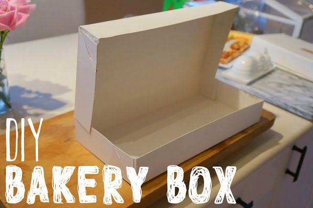 DIY bakery box for transporting your baked goods to your friends and family