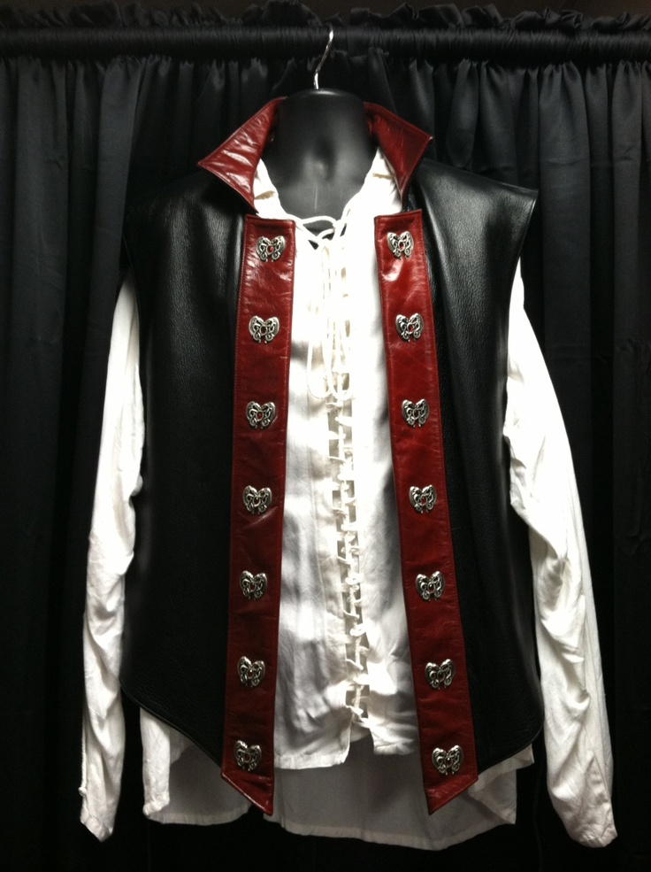 Dragon Rider Mens 2XL Leather Fantasy Vest. $395.00, via Etsy.