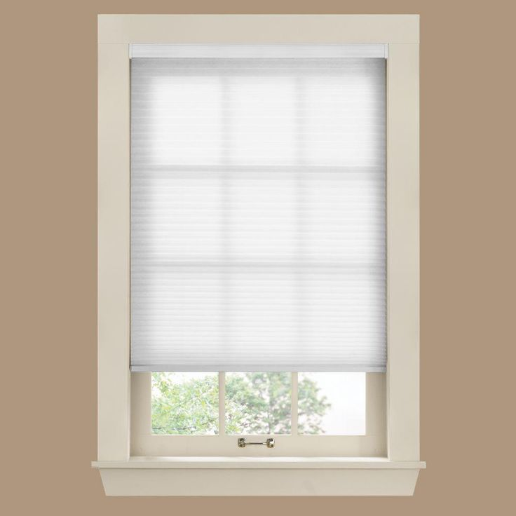 Bali Cut-to-Size White 3/8 in. Cordless Light Filtering Cellular Shade – 54.5 in. W x 72 in. L (Actual Size is 54 in. W x 72 in. L)