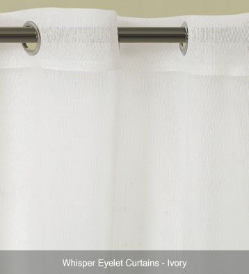 Whisper Sheer Eyelet Curtains – Ready Made Ivory #curtains
