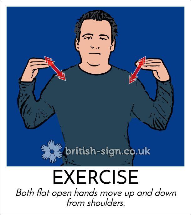 Today's #BritishSignLanguage sign is: EXERCISE #GoForARideDay